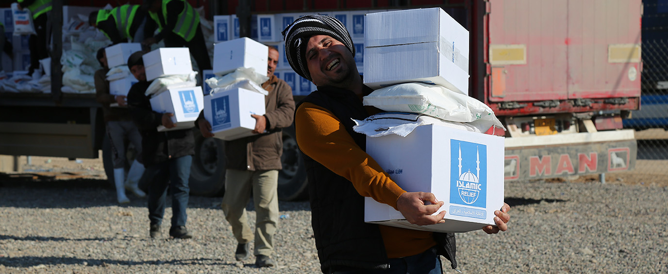 Distributing Emergency Food Parcels & Hygiene Kits to Mosul IDPs