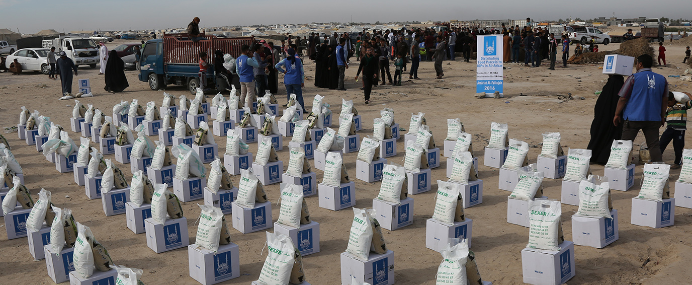 Iraq-Relief (food parcel) to IDPs in Amiriat al Falluja in al Anbar